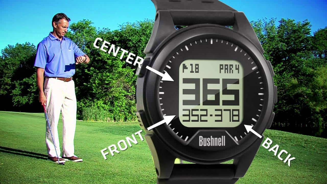 Image of the bushnell neo ion golf GPS watch yardage function. This is the second best golf GPS watch of 2017.