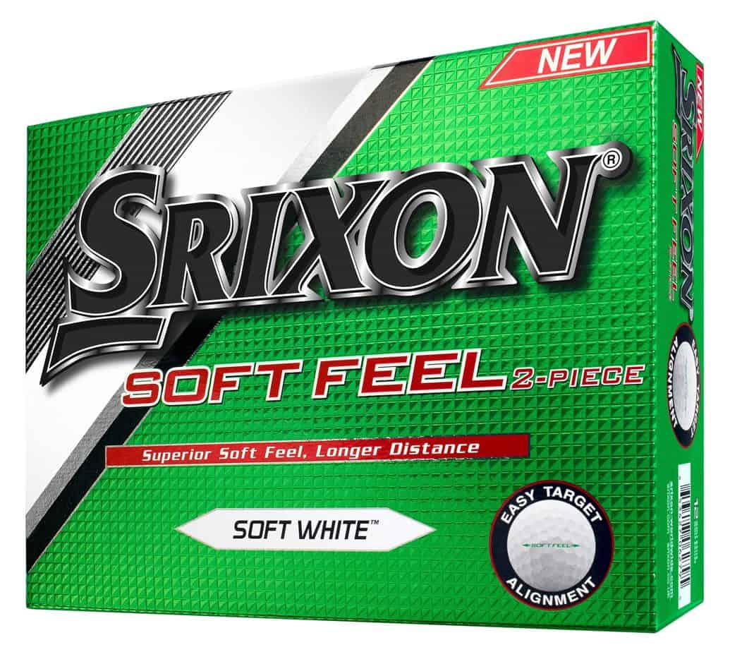 An image of a box of Srixon Soft Feel golf balls