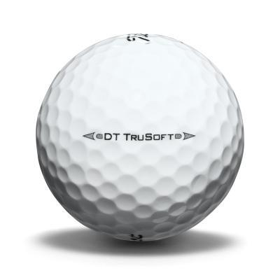 Image of the side of a DT TruSoft golf ball