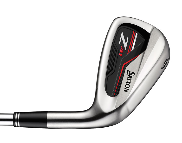 back side of the black and red Srixon z355 golf club