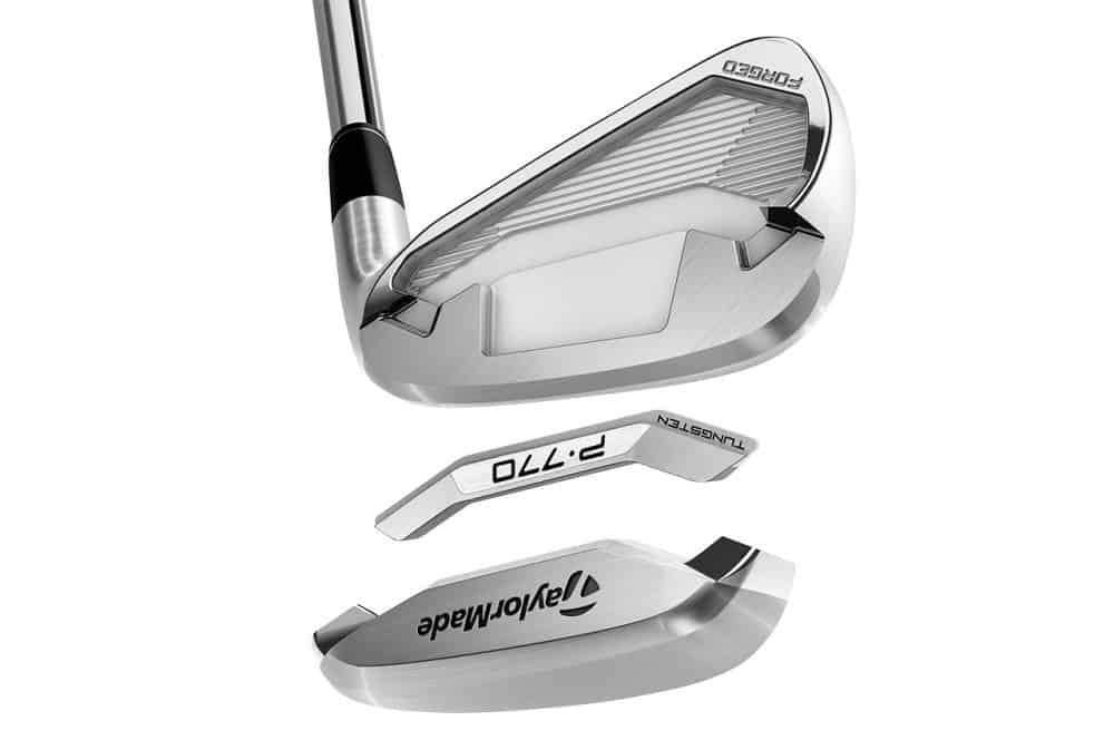 Image of the tungsten insert on the TaylorMade P770 golf irons.