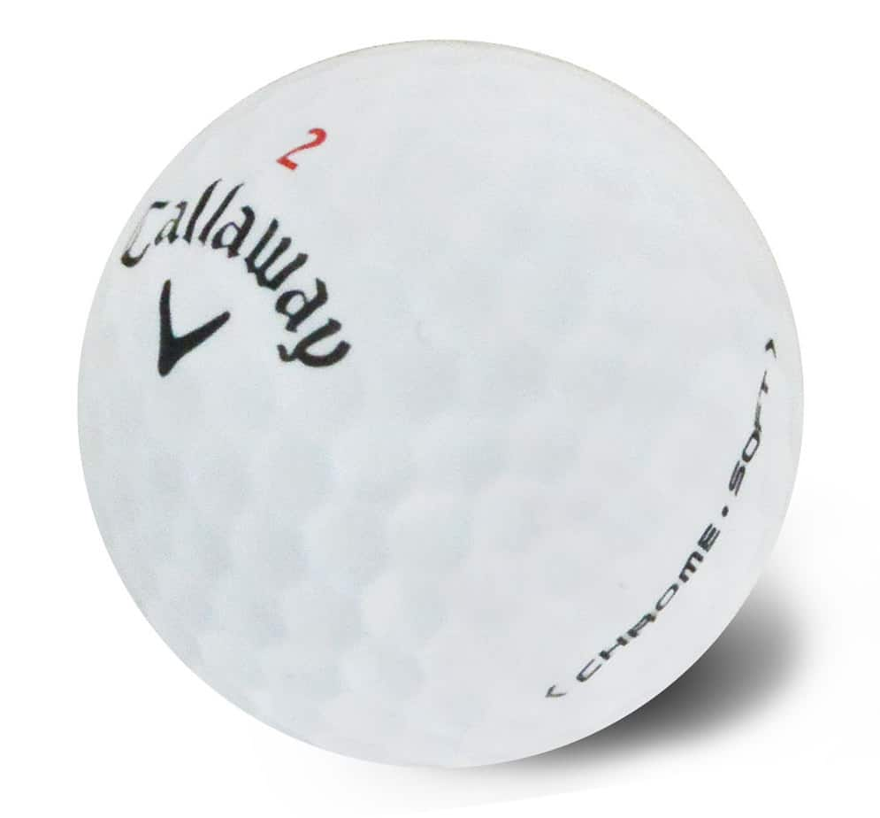 Image of Callaway Chromesoft golf ball. Best golf ball for the money.