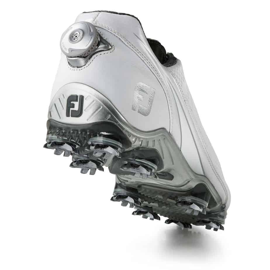 Image of the back and dial of the Footjoy D.N.A. BOA. The best golf shoes.