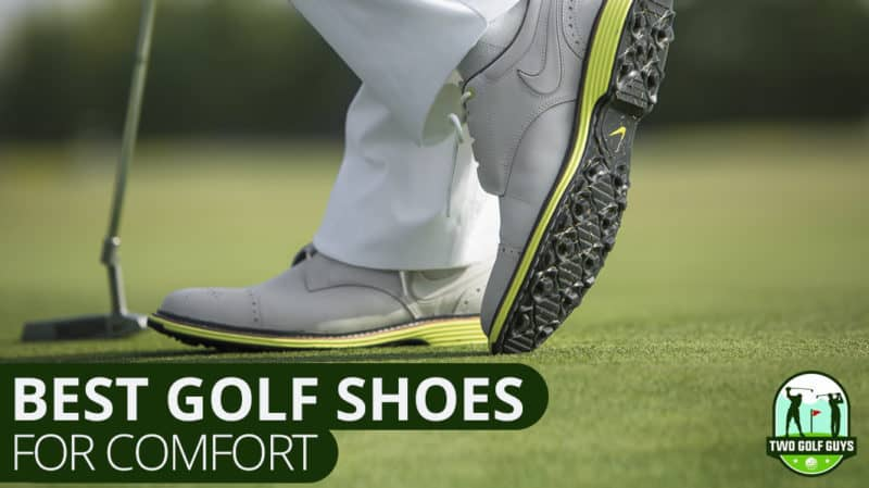 best golf shoes featured page. image of man standing in best golf shoes.
