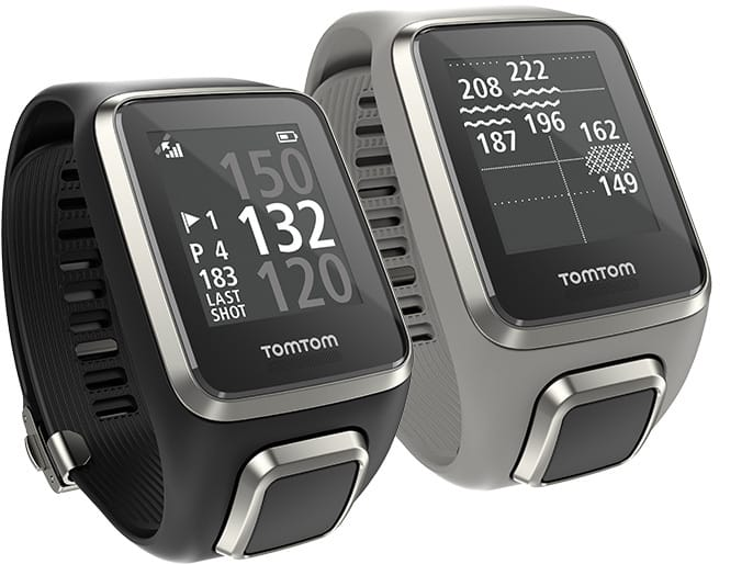 Image of a black and grey Tom Tom 2 golf watch.