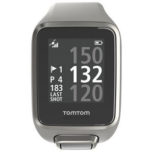 Image of a grey TomTom Golfer 2 Golf Watch.