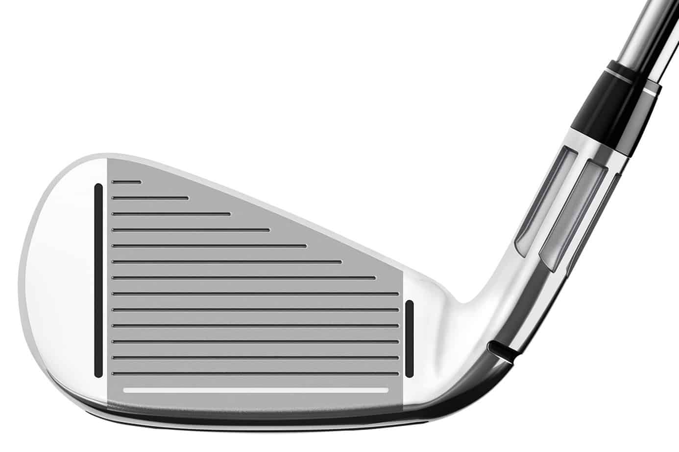 Image of the fluted hosel of the Taylormade M2 iron.