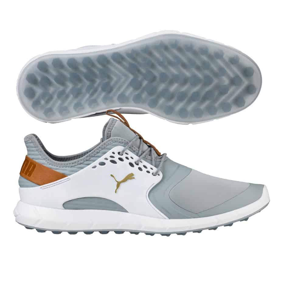 Image of the white Puma Pwrsport golf shoe. Best golf shoe for style. 84005ce07
