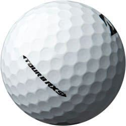 Image of side of a Bridgestone Tour B RXS Golf ball